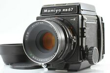 【 EXC+5 w/ Hood 】 Mamiya RB67 Pro S Sekor C 127mm f/3.8 120 Film Back From JAPAN