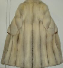 """NEW Finest Quality 50"""" Long Platinum White Fox Fur Coat Size 4-6 FREE SHIPPING"""