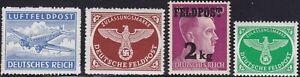 Stamp Germany Feldpost Mi 1-4B Sc MC1-4 1942 WW2 Military Set MNH