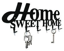"Schlüsselbrett / Hakenleiste "" Home Sweet Home Design "" - Schlüsselboard Metall"