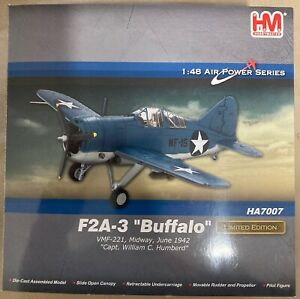 """Hobby Master HA7007 F2A-3 """"Buffalo"""" 1:48 Die Cast Model Excellent Condition"""