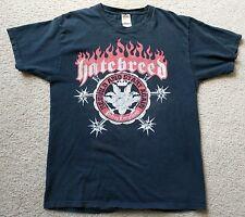 VTG Hatebreed Rebuild & Start Again Destroy Everything T Shirt SZ Large Metal