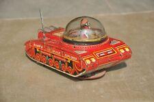 Vintage Mechanical 'Bump'n Go Space Explorer' K.O Mark Litho Tank Tin Toy,Japan