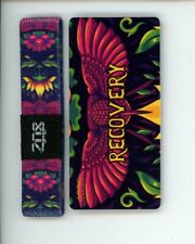 Small ZOX Silver Singles Strap RECOVERY Wristband with Card Reversible