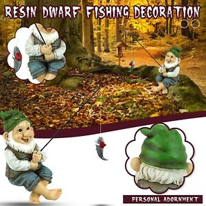 The Fishing Gnome Sitter Garden Gnome Statue Cute Gift Outdoor Decoration