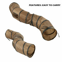 Pet Kitty Cat Play Tunnel S Shape Collapsible Crinkle Animal Rabbit Tunnel Toys!