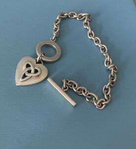 Vintage 925 Silver T Bar Bracelet / Kit Heath/ 7 Inches / 14 Grams