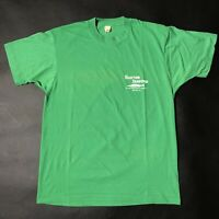 Vintage 80s 90s Buxton Seafood Graphic T-Shirt Screen Stars Green Sz Large