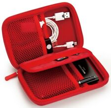 E-books U1 Shockproof Travel Carrying Case Small Electronics Accessories - Red