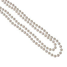 Pearl Colour Plastic Necklace Long Neck Laces Beads Rave Party Rope Rosary
