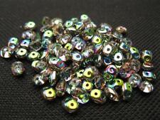100 ST. Rocailles duo beads 5x2mm bunt klar10196