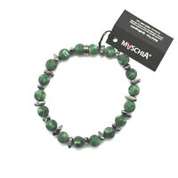 BRACCIALE IN ARGENTO 925 CON EMATITE E DIASPRO BWI-1 MADE IN ITALY BY MASCHIA