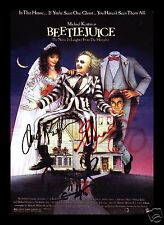 BEETLEJUICE AUTOGRAPHED SIGNED AND FRAMED PP PHOTO POSTER