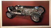 Leon Duray 1926 Miller 91 Ft Wheel Drive Race Cutaway David Kimble/Car Poster!!