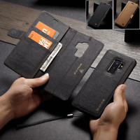 Fr Samsung Galaxy Note 9 S9/S8 Removable Leather Magnetic Flip Cover Wallet Case
