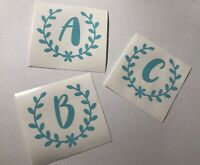 Personalized Initial Decal Sticker, Cute Name Decal, Vinyl Sticker Monogram