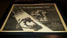 The Walter Winchell File Rare Original 1958 Promo Poster Ad!