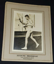 1915-1930's -  BOXER - EUGENE BROSSEAU - MONTREAL - BOXING STAR - CABINET PHOTO