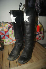 MENS WESTERN COWBOY BOOTS SIZE 12 D TALL LEATHER BOOTS 12 D STAR BOOTS 12