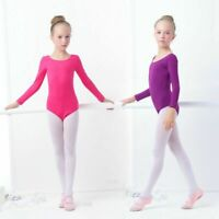 Girls Kids Ballet Dance Clothes Cotton Gymnastics Leotard Bodysuit for Dancing