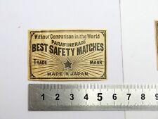 Ancienne Etiquette Boite d'Allumette JAPON  Old JAPAN  Matchbox Label Matches