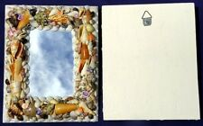 "Assorted Seashell Wall Mount Mirror Frame~8"" X 10""~Seashore Costal Beach Decor"