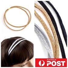 2pc/ Elastic Headband Tie Double Wrap Glitter Non Slip Sports Boho Colourful AU