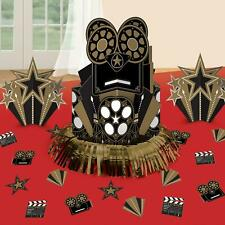 23pc Hollywood Glitz Gold Black Table Party Decorating Kit Centrepieces NYE 20s