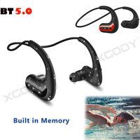 Wireless Earphone Waterproof IPX8 Sports Headphone BT5.0 Headset 8G MP3 Player