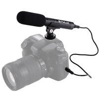 Mini kit micro vidéo microphone stéréo pour appareil photo reflex