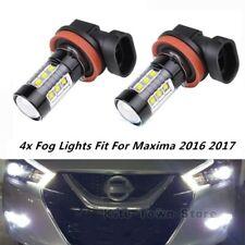4x NEW 80W Fog Lights Bulbs For Nissan Maxima 2016 2017 6000k White LED Lamp