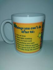 Over the hill coffee mug things you can't do after 40 cup