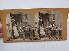 ANTIQUE VINTAGE STEREOSCOPE 3-D VIEWER PHOTO CARD A WICKED JOKE DOCTOR KIDS