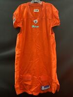 MIAMI DOLPHINS GAME USED REEBOK BLANK ON FIELD ORANGE JERSEY SIZE 46 YEAR 2004