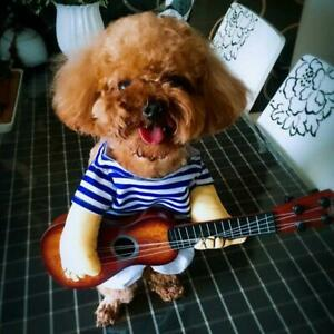 Mini Large Pet Dog Clothes Party Cosplay Halloween Coat Guitar Costumes K8A2
