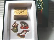 VINTAGE 1992 HALLMARK COLLECTOR'S CLUB CHRISTMAS TREASURES - MINIATURE SET OF 4