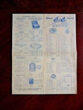 Vintage Advertising price list ESTABROOK & EATON CIGARS 1924 Havana Cuban