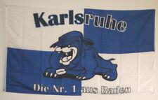 FAHNE FLAGGE KARLSRUHE die Nr.1 aus BADEN MEINE STADT BULLDOGE