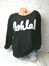 Italy Kuschel Strickpulli Pullover Gr.36 38 40 42 Oversized black ohlala blogger