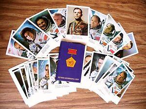 38 Photokarten sowjetischen Kosmonauten Rakete  Gagarin Sowjetunion soviet USSR