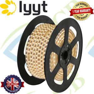 LYYT Warm White LED Strip 220V 240V IP67 Waterproof Commercial Lights Rope UK