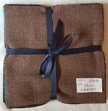 New listing Felted Wool Bundle (Qty 10) 11 x 11 Plaid Colors pkg C13