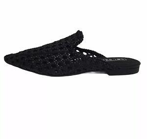 SOL SANA Women's Evans Flat Sandals Colour Black Size 42 (AU 11) New In Box