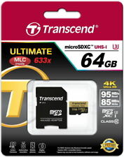 Transcend Micro SDXC 64 GB Class 10 UHS-1 633x Speicherkarte TS64GUSDU3 64GB OVP