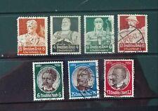 L'Allemagne, sept Moins commune timbres du troisième reich