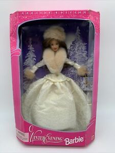 Winter Evening Barbie Doll 1998 Special Edition Brunette BOX HAS DAMAGE