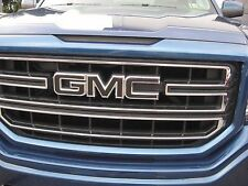 2014 15 16 17 GMC CANYON MATTE BLACK FRONT GRILLE DECAL EMBLEM OVERLAY DIY