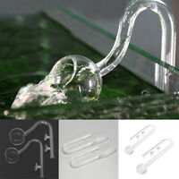 Clear Aquarium Water Plant Tank Glass Inflow Outflow Pipe Suction Cup Tubes