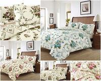 Olivia 100% Brushed Cotton Flannelette Reversible Duvet Quilt Cover Bedding Set