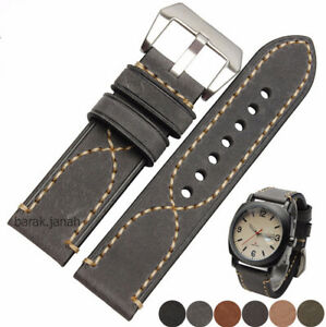Genuine Leather Straps Band For Breitling and Omega watches with buckle + Tools